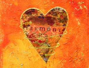 harmony heart collage
